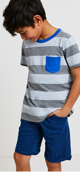 Blue Contrast Pocket Outfit