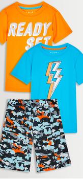 Lightning Camo Tee & Short 3-Pack