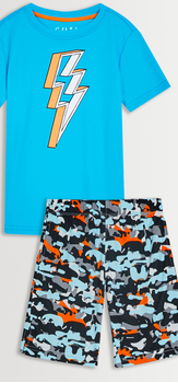 Lightning Tee & Camo Short Pack