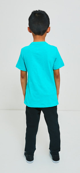 Short Sleeve Teal Jogger Outfit