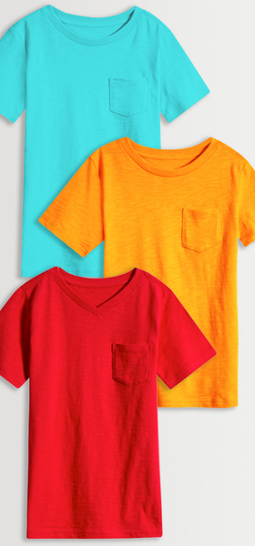 Basic Pocket Tee 3-Pack