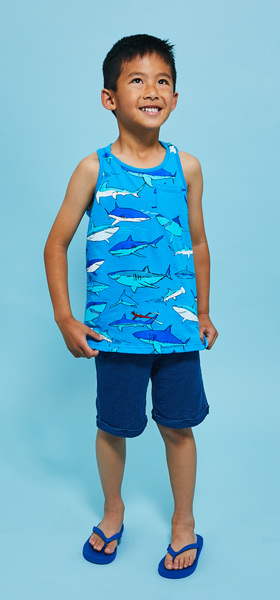 Shark Tank Rollup Short Outfit