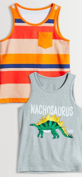 Nachosaurus Stripe Tank Pack
