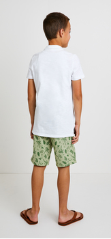Palm Print Polo Outfit