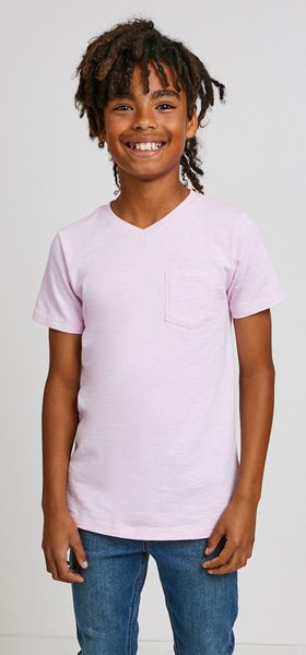 Pink Pocket Vee Outfit