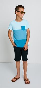 Colorblock Pocket Black Short & Sunglasses Outfit