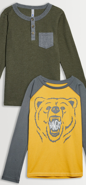 Hangry Henley Tee Pack