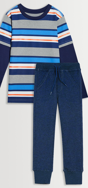 Striped Tee Jogger Pack