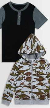 Dino Hoodie Tee Pack