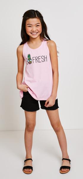 So Fresh Denim Short Outfit