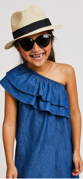 One Shoulder Dress Hat Outfit