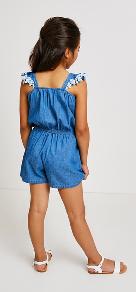 Chambray Romper Outfit