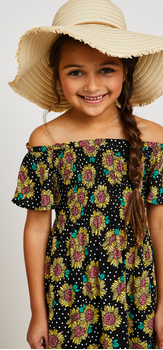 Sunflower Dress Hat Outfit
