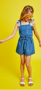 The Chambray Romper Outfit