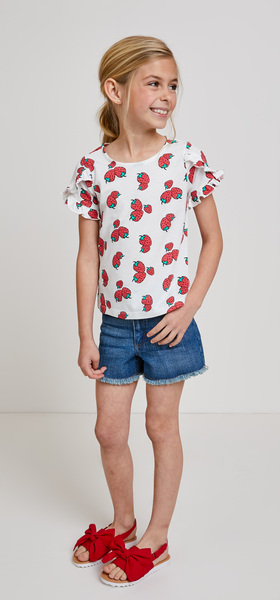 Strawberry Tee Short Outfit