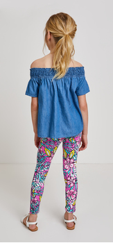 Chambray Hibiscus Floral Outfit