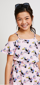 Toucan Print Sunglasses Dress Outfit