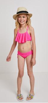 Crochet Two Piece Hat Swim Outfit