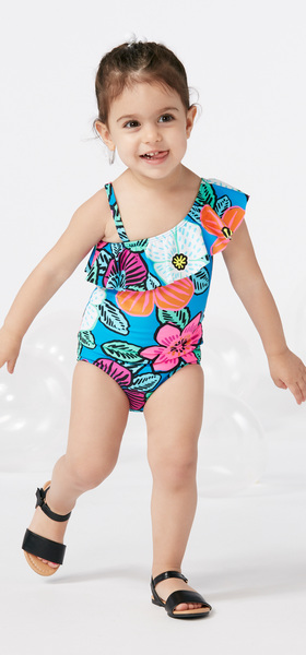 Ruffle Suit Hat Swim Outfit