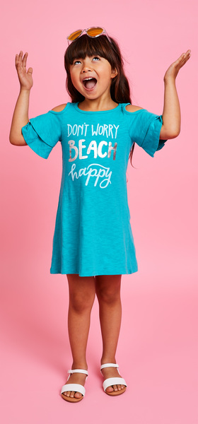 Beach Happy Dress Sunglasses Outfit