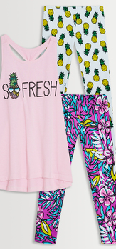 Floral Pineapple Legging Pack