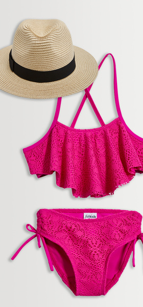 Crochet Bikini Hat Swim Pack