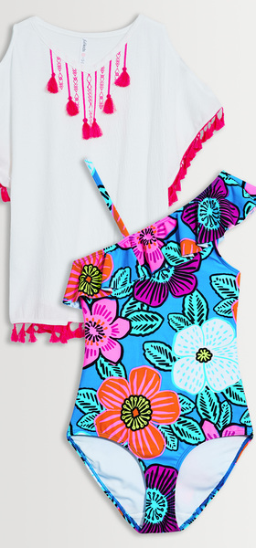 One Piece Cover Up Swim Pack