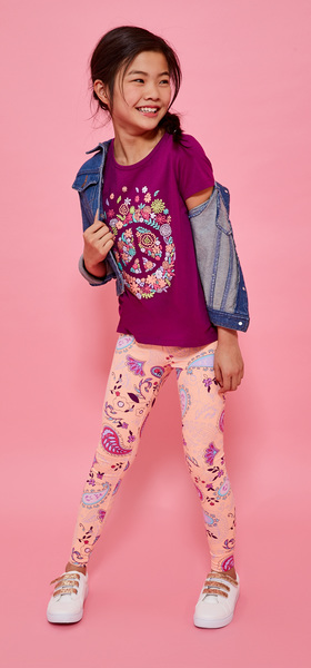 Floral Peace Paisley Legging Jacket Outfit