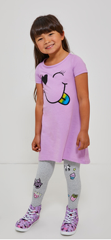 Smiley Face Legging Dress Outfit