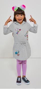 Emoji Sweatshirt Dress Legging Headband Outfit