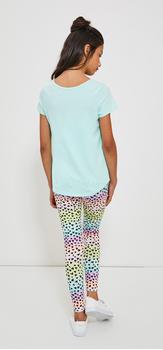 Kitten Rainbow Heart Legging Outfit