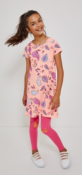 Paisley T-Shirt Dress Peace Out Legging Outfit
