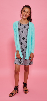 Bird T-Shirt Cardigan Dress Outfit