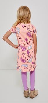 Paisley T-Shirt Dress Legging Outfit