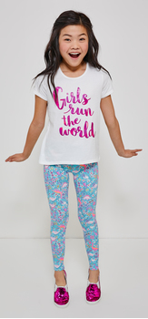 Girls Run The World Dino Legging Outfit
