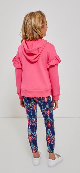 Ruffle Sleeve Hoodie Legging Outfit