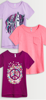 Colorful Horse Peace Tee Pack