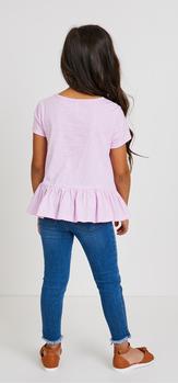 Pink Peplum Denim Outfit