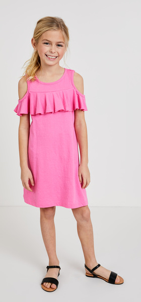 Cold Shoulder Ruffle Dress Outfit