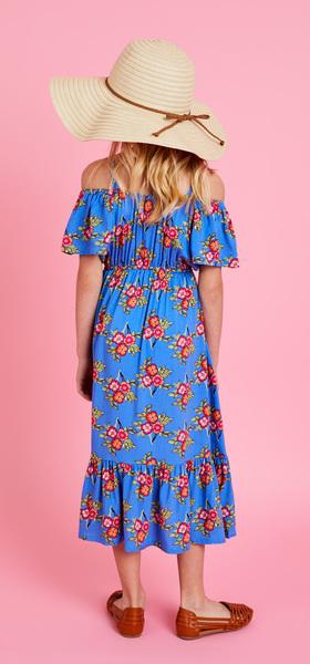 Blue Floral Maxi Dress Outfit