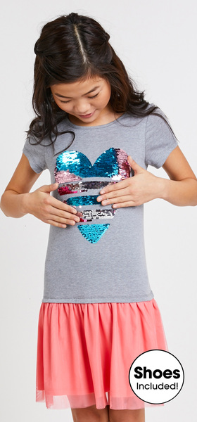 The Sequin Heart Tulle Dress Outfit