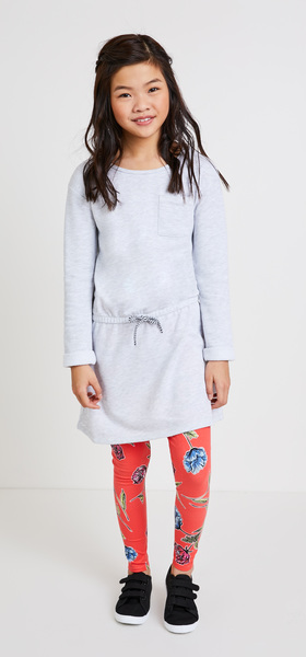 Floral Pocket Sweatshirt Dress Outfit