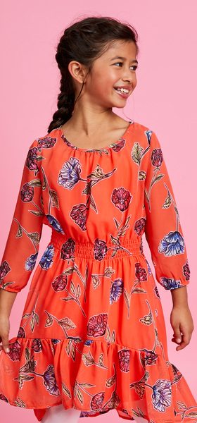 Floral Ruffle Dress Outfit