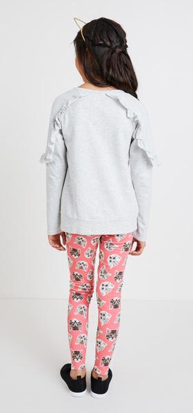 Ruffle Kitten Sweatshirt Outfit