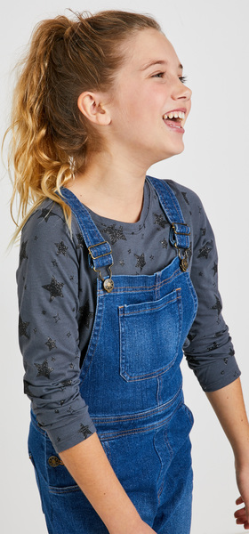 Glitter Star Overalls Outfit