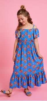Floral Cold Shoulder Maxi Dress Outfit