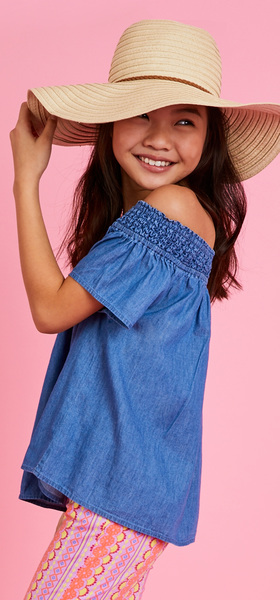 The Chambray Pink Geo Outfit