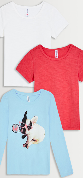 Dog Graphic Tee 3-Pack