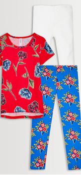 Floral Tee & Leggings 3-Pack