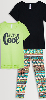 Always Cool Tee & Legging 3-Pack